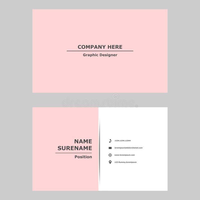 Modernt aff?rskort ren designmall för yrkesmässigt, personligt och företag arkivbild