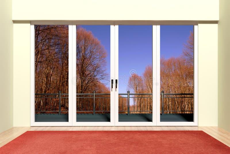Modernt aluminum fönster stock illustrationer