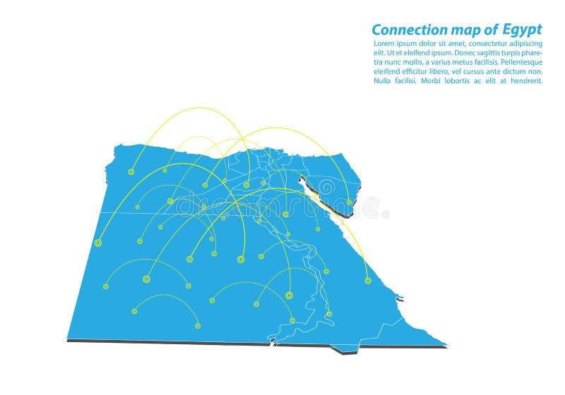 Modernt av designen för nätverk för Egypten översiktsanslutningar, bästa internetbegrepp av den Egypten översiktsaffären från beg vektor illustrationer