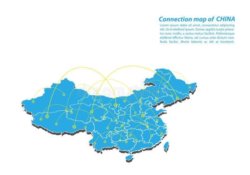 Modernt av designen för nätverk för porslinöversiktsanslutningar, bästa internetbegrepp av porslinöversiktsaffären från begreppss vektor illustrationer