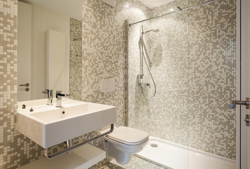 Modernt badrum fotografering för bildbyråer