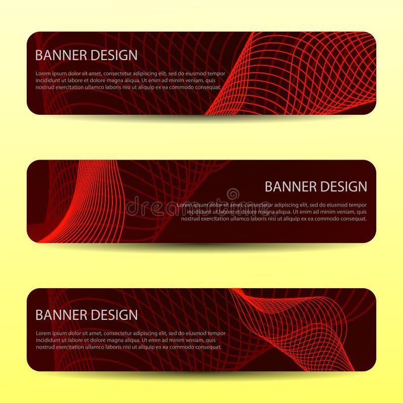 Modernt baner för abstrakt vektor Kort med den färgrika läderetiketten också vektor för coreldrawillustration stock illustrationer