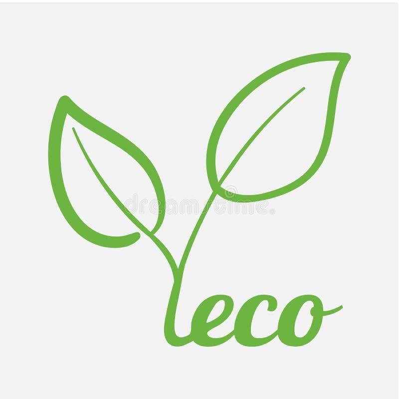 Modernt begrepp av underhållande ekologi av miljö- vänskaplighet för planet av mat och omsorg för miljö Eco tema stock illustrationer