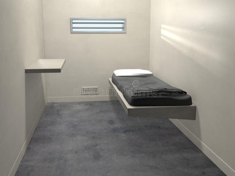 modernt fängelse för cell royaltyfri illustrationer