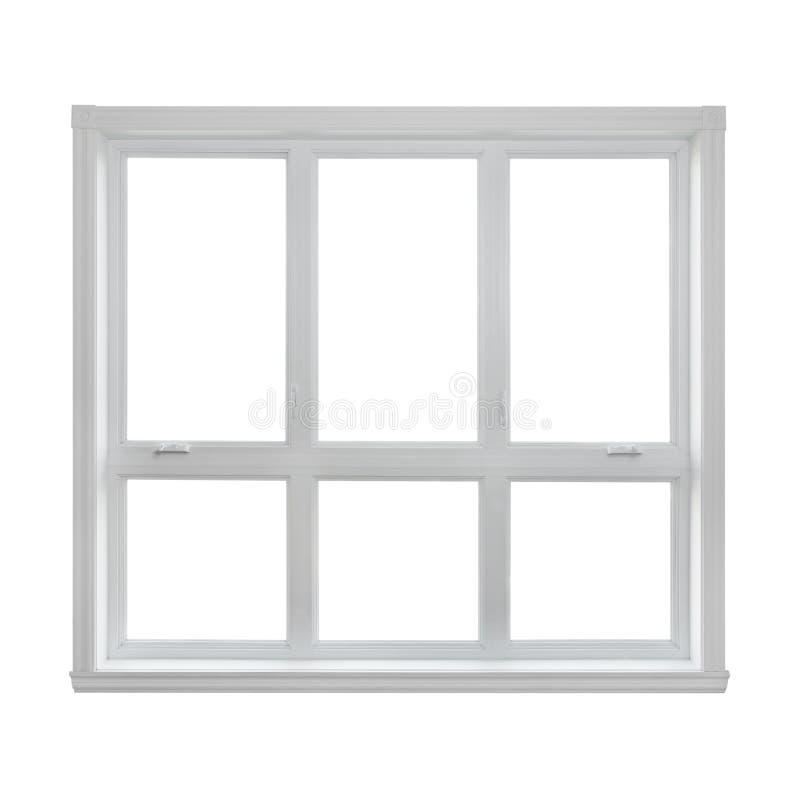 Modernt fönster som isoleras på vit bakgrund royaltyfria foton