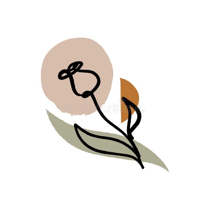 Modernt f?rgpulver skissar med abstrakta former Vektorn f?ster ihop konst Detta ?r sparar av EPS8 formaterar vektor illustrationer