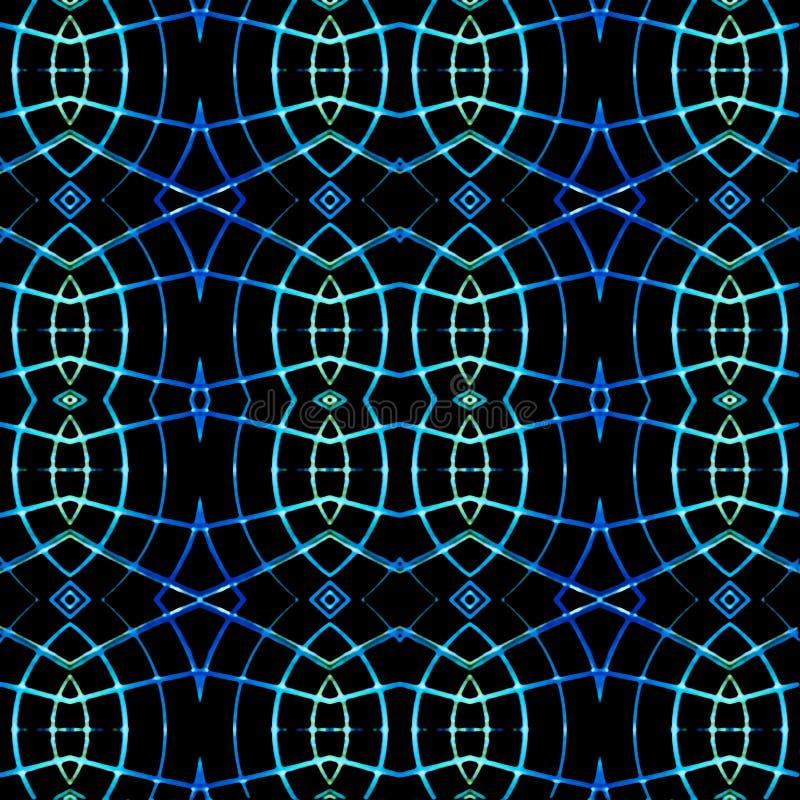 Modernt fläta samman den sömlösa modellen vektor illustrationer