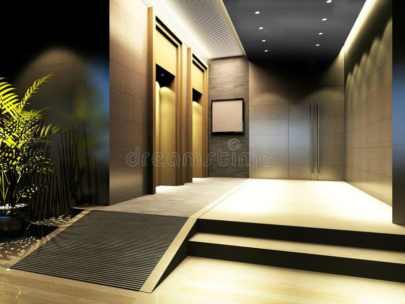 modernt framförande för korridor royaltyfri illustrationer