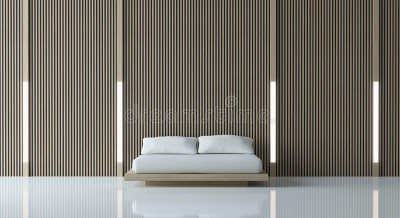 Modernt fridsamt sovrum royaltyfri illustrationer