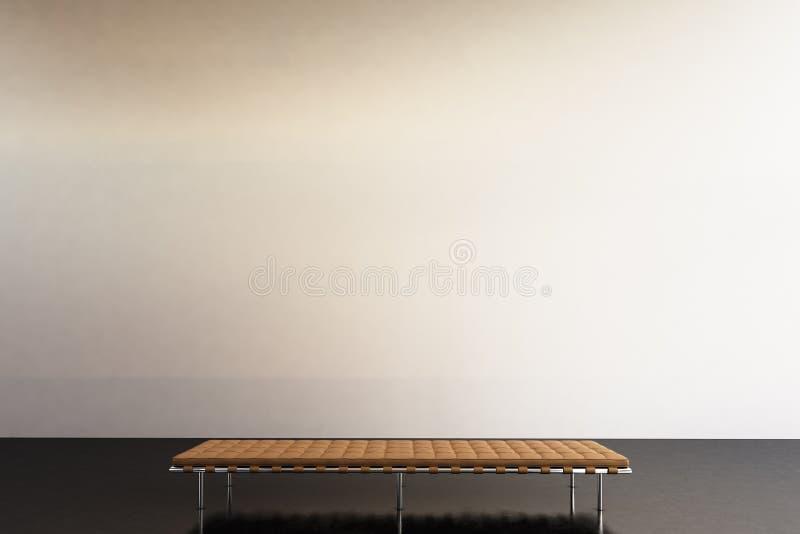 Modernt galleri för fotoutställning Tomt vitt tomt väggsamtida konstmuseum Inre vindstil med betong royaltyfria foton