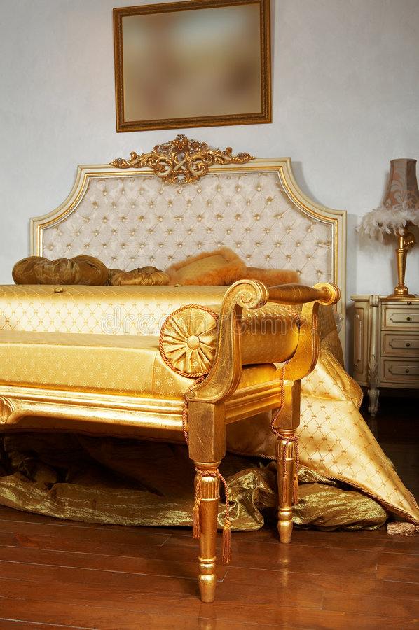 modernt härligt sovrum arkivbilder