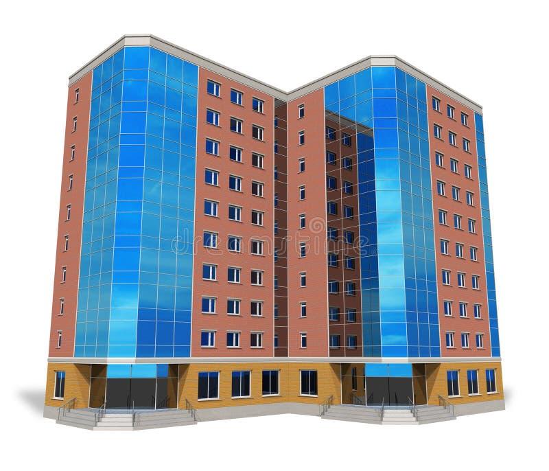 modernt högväxt för byggnadsaffär vektor illustrationer