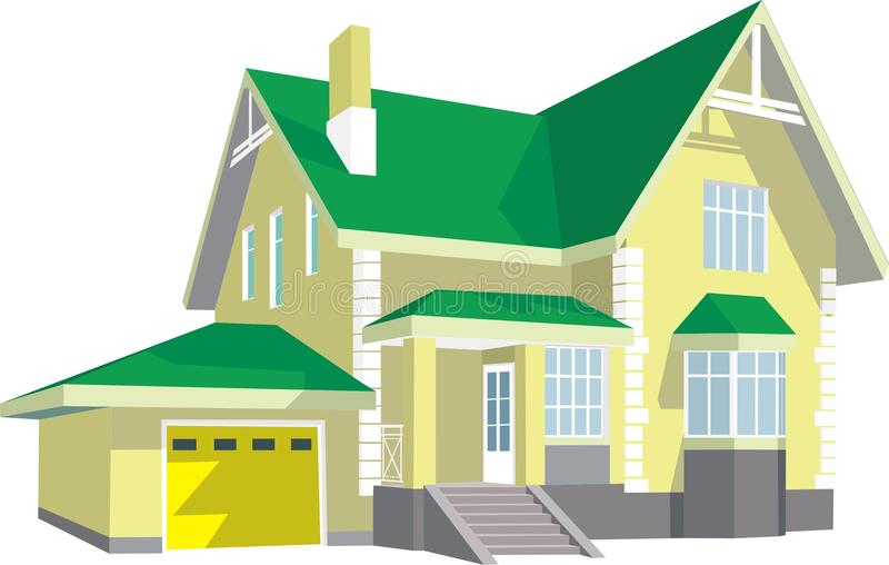 modernt hus royaltyfri illustrationer