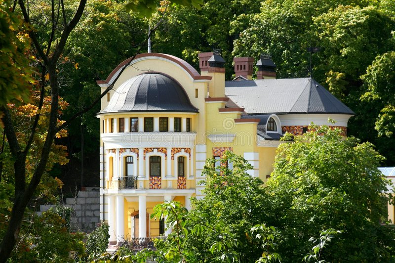 modernt hus royaltyfria bilder