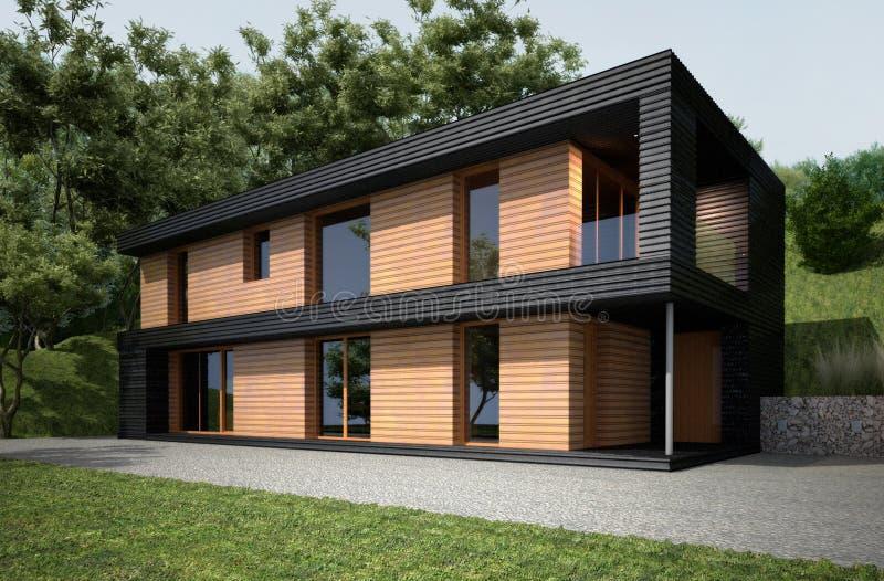 Modernt hus i modern stil arkivfoton
