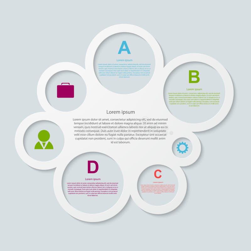 Modernt infographic. Designbeståndsdelar. royaltyfri illustrationer