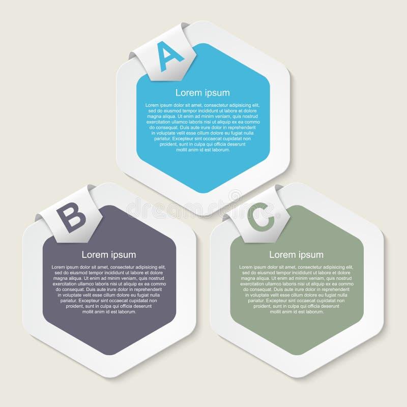 Modernt infographic. Designbeståndsdelar. stock illustrationer