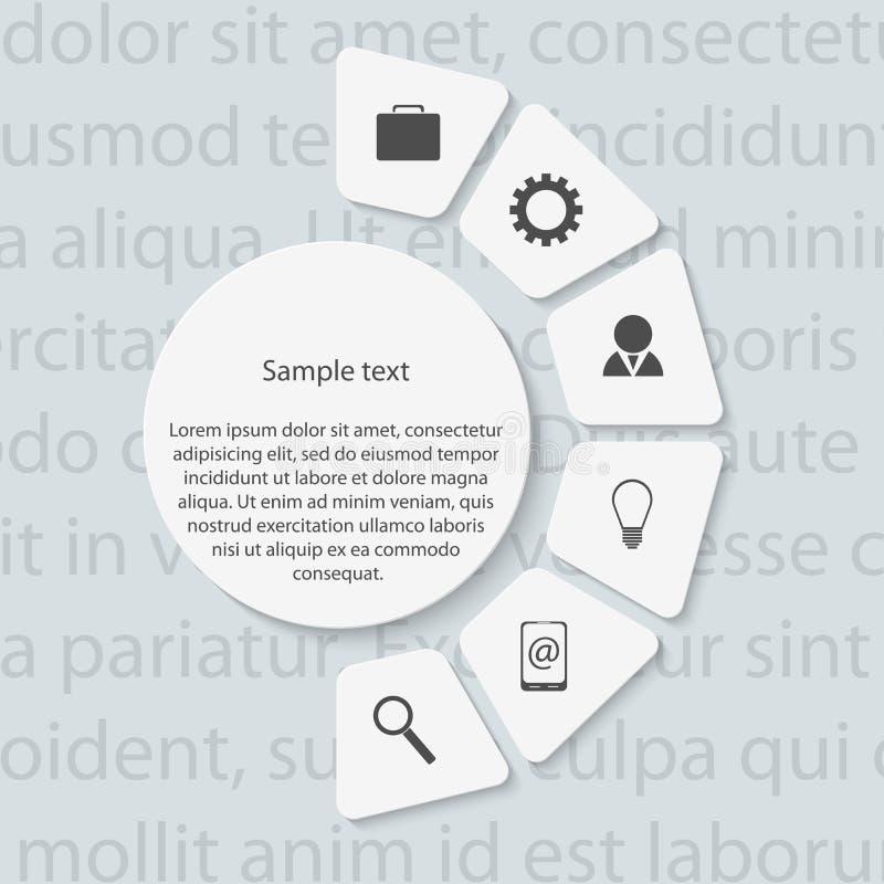 Modernt infographic. Designbeståndsdelar. vektor illustrationer