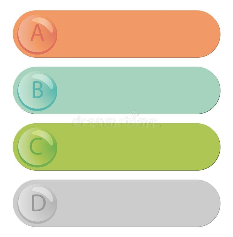 Modernt infographic med kulöra etiketter vektor illustrationer