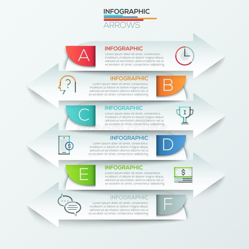 Modernt infographicsalternativbaner stock illustrationer
