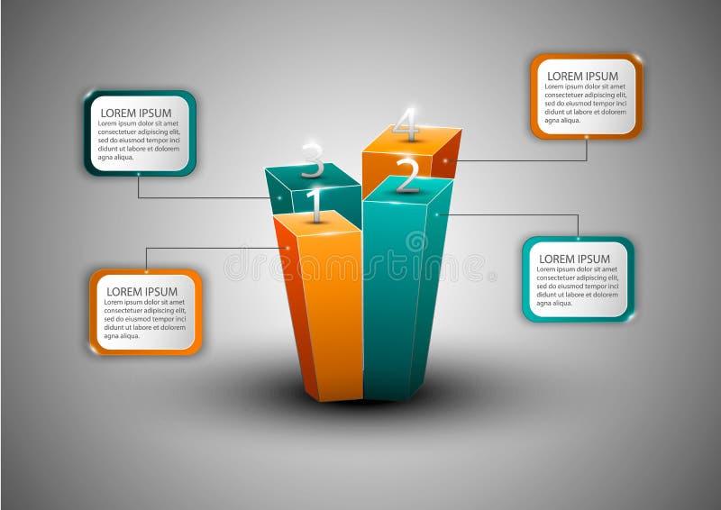 Modernt infographicsdiagram för rengöringsdukdesign vektor illustrationer