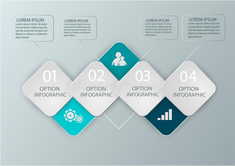 Modernt infographicsdiagram för rengöringsdukdesignen, orienteringar, finansiella rapporter äganderätt för home tangent för affär royaltyfri illustrationer