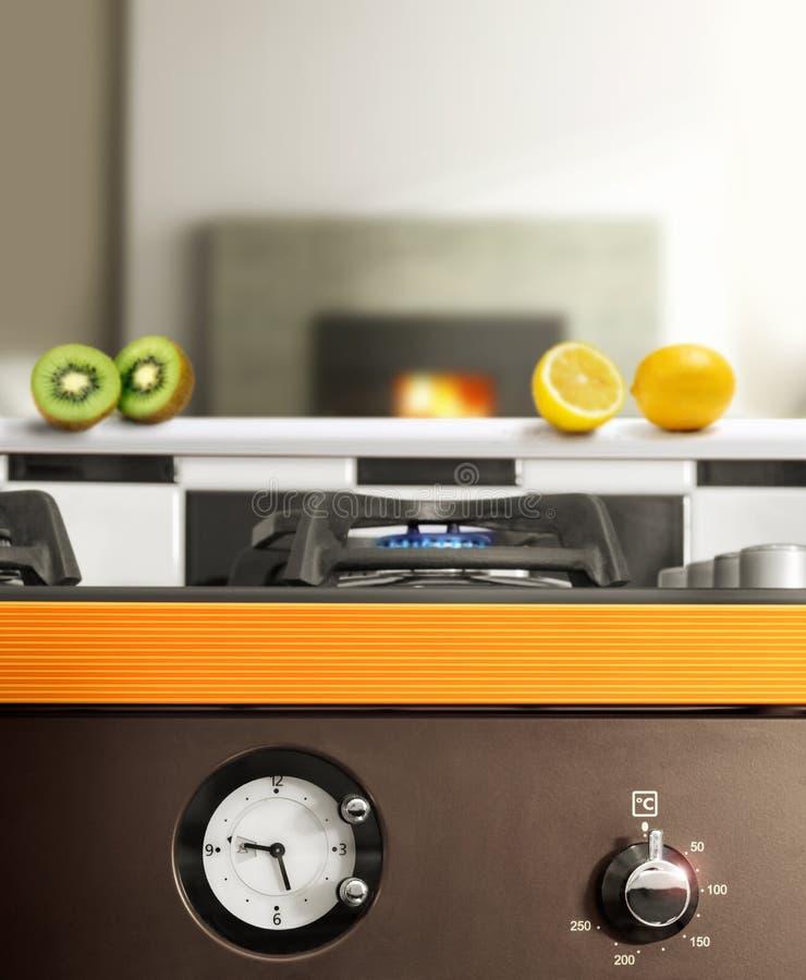 Modernt kök fotografering för bildbyråer