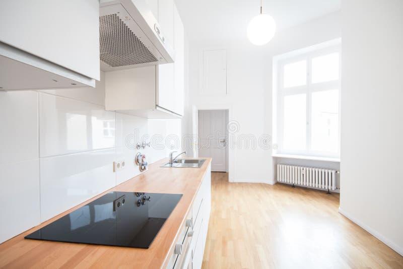 Modernt kök - fastighetinre arkivbild