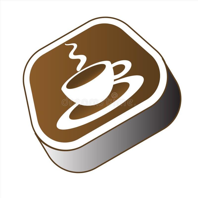 Modernt kaffetecken   stock illustrationer