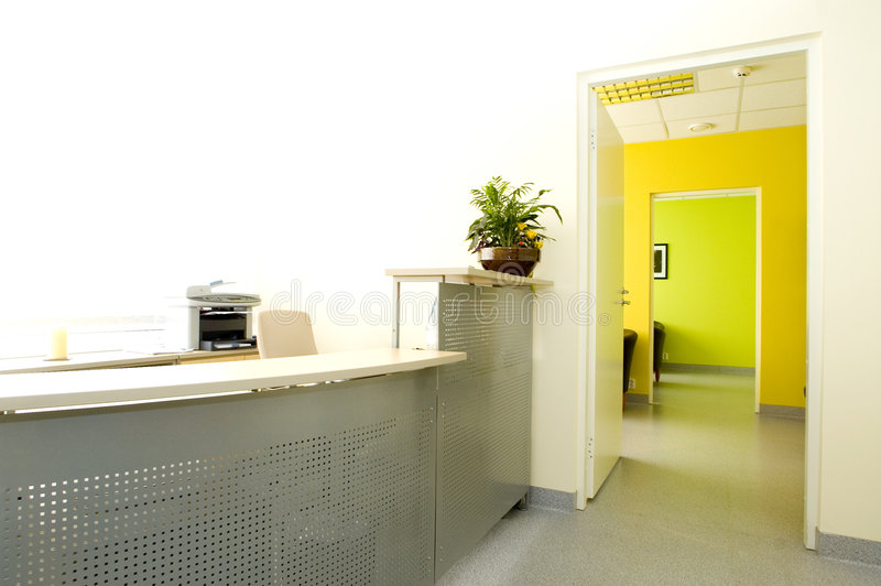 modernt kontor fotografering för bildbyråer