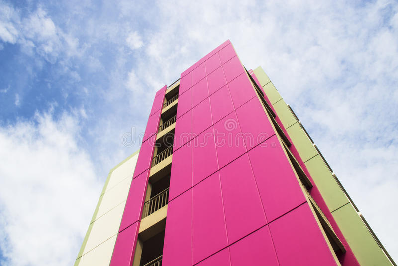 modernt kontor för byggnader Övre sikt för botten royaltyfri fotografi