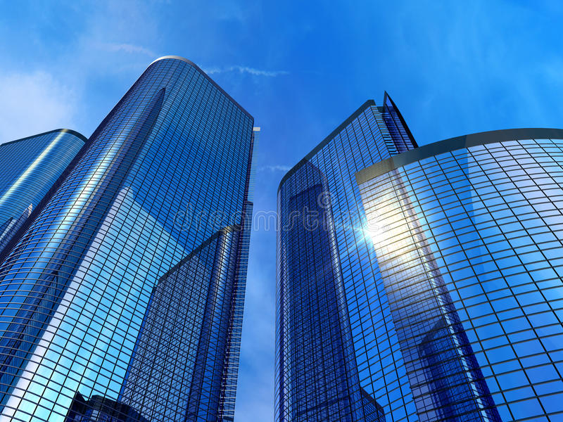 modernt kontor för byggnader vektor illustrationer