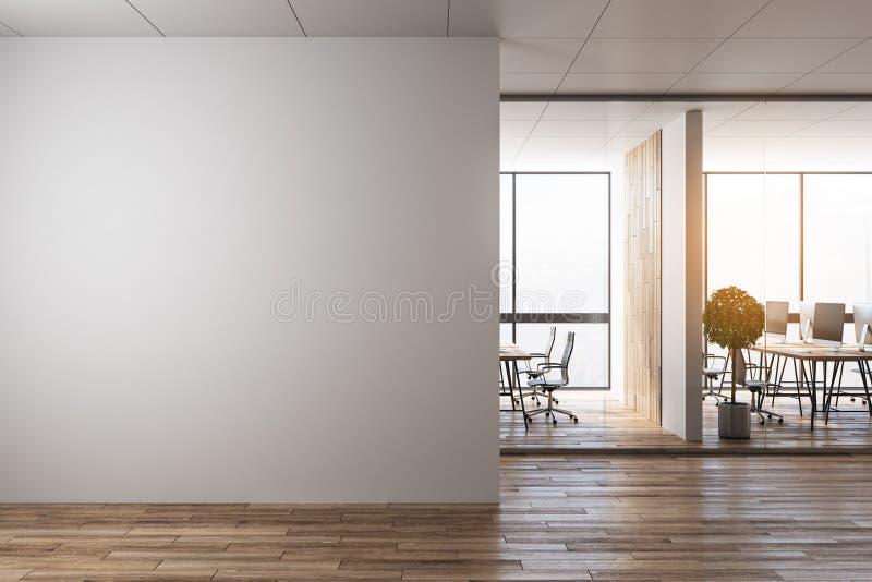 Modernt kontor med copyspace stock illustrationer