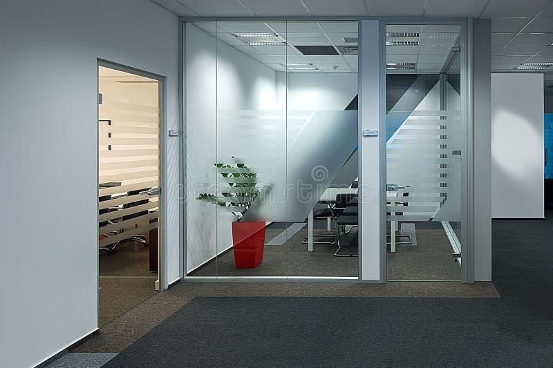Modernt kontor med en enorm sikt arkivfoton