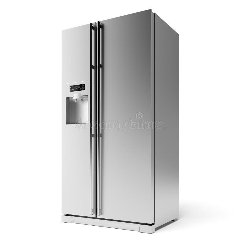Modernt kylskåp royaltyfri illustrationer
