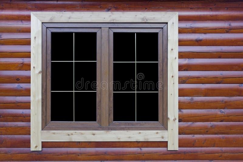 Modernt lantligt fönster arkivfoton