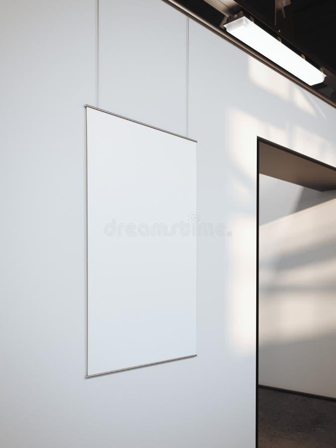 Download Modernt Ljust Galleri Med Den Vita Affischen Framförande 3d Fotografering för Bildbyråer - Bild av åtlöje, begrepp: 76703827
