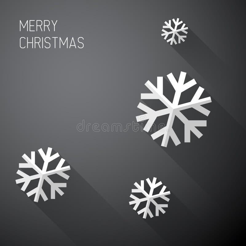 Modernt minimalistic julkort med långa skuggor stock illustrationer