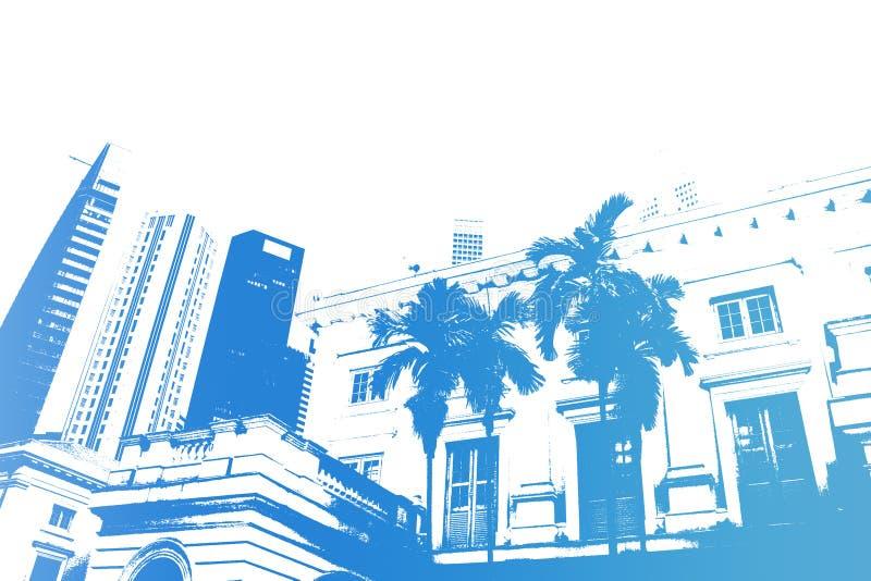 modernt moderiktigt för abstrakt blått stadsliv vektor illustrationer