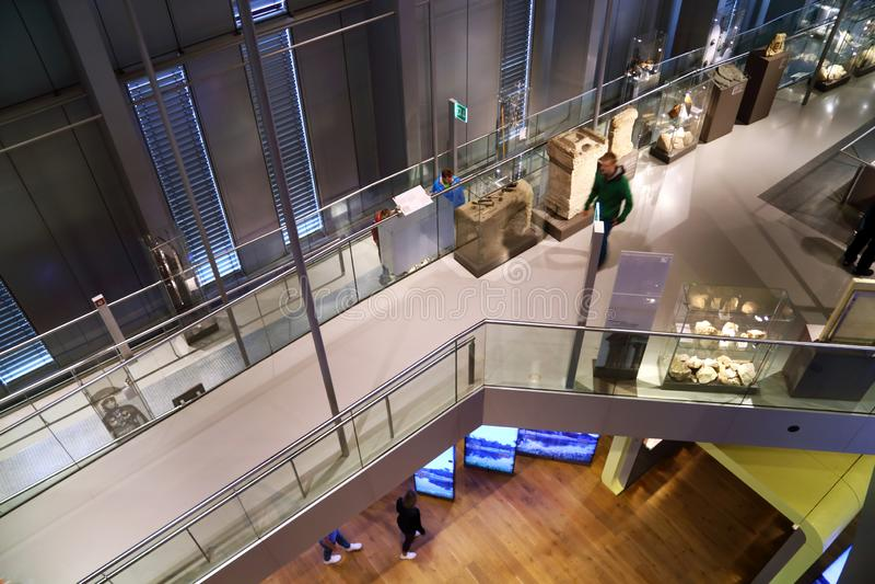 Modernt museum för romerska forntider i den Xanten Tyskland royaltyfri fotografi