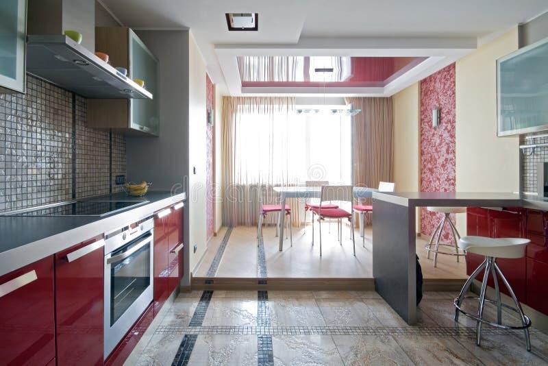 modernt nytt för kök royaltyfri fotografi