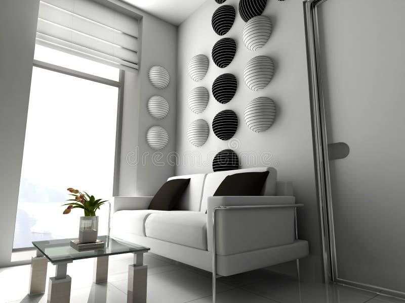 modernt nytt kontor royaltyfri illustrationer