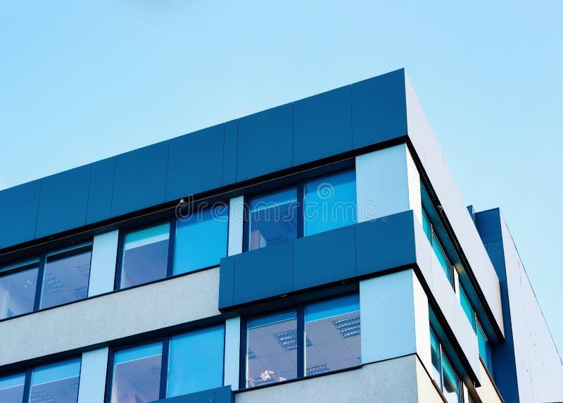 Modernt nytt kontorsbyggnadbegrepp för företags affär med kopieringsutrymme arkivbild