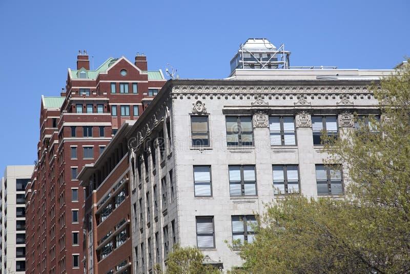 Modernt och historiska byggnader i Fort Worth royaltyfri foto
