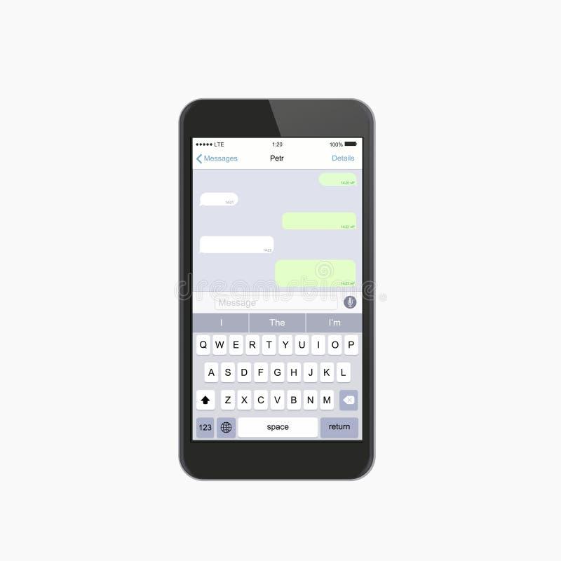 Modernt prata fönster för vektor Social nätverksbegreppsdesign royaltyfri illustrationer