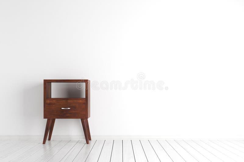Modernt rum med skåpet vektor illustrationer