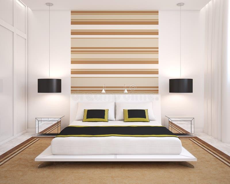 modernt sovrum vektor illustrationer