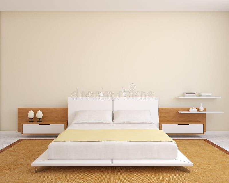 Modernt sovrum. vektor illustrationer