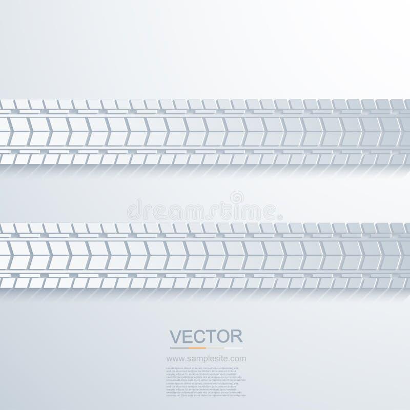 Modernt spår för vektor av gummihjulbakgrunden stock illustrationer