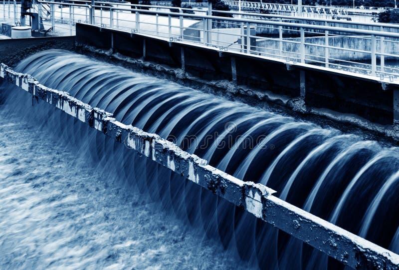 Modernt stads- avloppsvattenreningsverk i shanghai royaltyfri fotografi